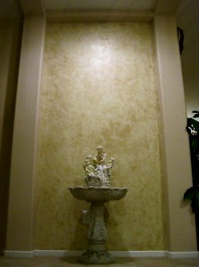 Venetian Plaster Accent Wall in Rancho Encinitas